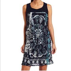 Lucky Brand Boho Drawstring Sleeveless Dress